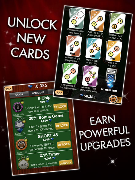 Unlock new cards.  Earn powerful upgrades.